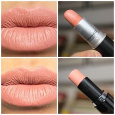 Drugstore dupe of MAC Kinda Sexy Lipstick on top –bare it all wet n wild on bottom