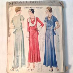 McCall 6527 | 1931 Ladies' & Misses' Dress