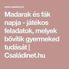 Madarak és fák napja - játékos feladatok, melyek bővítik gyermeked tudását | Családinet.hu
