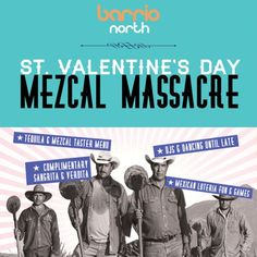 St. Valentines Day Mezcal Massacre at Barrio North, 45 Essex Road, London, N1 2SF, UK on Feb 14, 2015 to Feb 15, 2015 at 8:00pm to 3:00am. Barrio's St. Valentines Day Massacre refers to a legendary party in 1929 where a mob of singletons associated with the Hips Don't Lie gang of southside Mexico City, caused mayhem leaving a wake of empty tequila and mezcal bottles. URL: Facebook: http://atnd.it/20307-0  Category: Nightlife, Price: Free, Artists: DJ Nwando Ebizie.