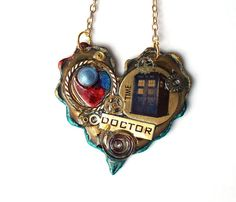 Doctor Who Necklace by TimeMachineJewelry