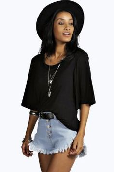 Mia Open Elastic Back Keyhole Top at boohoo.com