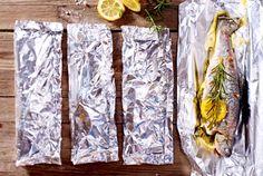 Gegrillte Kräuter-Zitronen-Forellen Rezept | LECKER