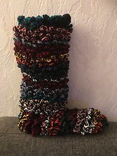 Ravelry: Happy Scrappy Boots pattern by CroJennifer Crochet Crafts, Crochet Ideas, Free Crochet, Knit Crochet, Crochet Slipper Boots, Crochet Slippers, Knitting Patterns Free, Free Pattern, Crochet Patterns