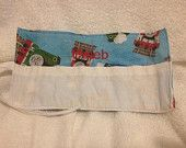Thomas The Train Crayon Roll Up Holder With White Pouch - Holds 8 Crayons