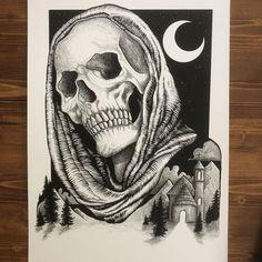 Skull Tattoo Design, Tattoo Design Drawings, Tattoo Sketches, Skull And Rose Drawing, Tattoo Asylum, Money Tattoo, Creepy Drawings, Art Reference Poses, Hand Illustration