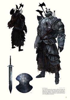 Dark Souls - The Characters of Dark Souls II. Dark Souls 2, Dark Souls Armor, Dark Fantasy, Fantasy Armor, Dark Souls Characters, Fantasy Characters, Character Concept, Character Design, Design Alien