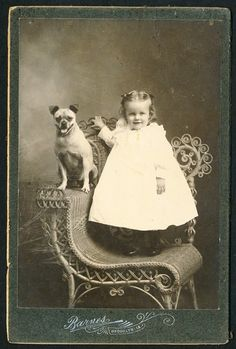 C 1895 Victorian Girl w Dog Vintage Cabinet Photo | eBay