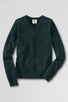 School Uniform Fine Gauge V-neck Sweater from Lands' End