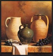 Resultado de imagen para cuadros con vasijas de barro en relieve