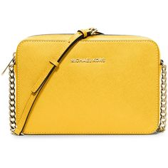 MICHAEL Michael Kors Jet Set Travel Large Crossbody Bag (1.110 HRK) ❤ liked on Polyvore featuring bags, handbags, shoulder bags, sunflower, handbags crossbody, crossbody handbags, crossbody travel purse, travel purse crossbody and yellow crossbody