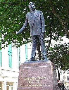 Aneurin Bevan, founder of the National Health Service, Britain's greatest achievement.