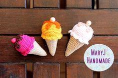 Tutorial: gelato all'uncinetto   How to crochet an icecream