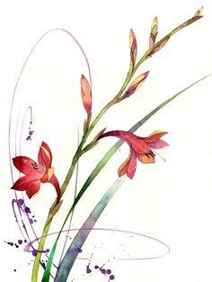 Watercolour 20XX by Hashin Jung, via Behance