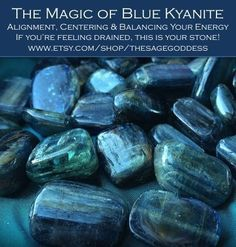 Blue kyanite brings cellular alignment and draws you inward toward your core, strengthening your will and vision so that you move in concert with the highest good for you and your kind. It\'s the stone of finding your sacred center.
