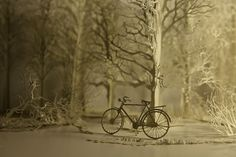 Papercraft Dioramas Come to Life with Projected Animations by Davy and Kristin McGuire