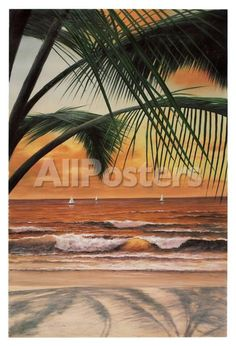 Paradiso Sunset by Ron Watts Landscapes Art Print - 66 x 97 cm