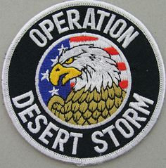 Army patch from Operation Desert Storm ..never thought we would have to deal with doing to war.....but we made it through.......