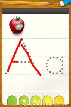 Kindergarten Apps for the iPad - I just downloaded a bunch of these.  ABC Tracing Letters is the one shown above - awesome!