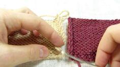Трикотажный шов. Сшивание вязаных деталей крючком без дополнительной нит...