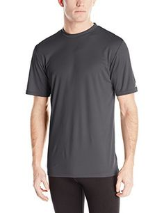 Russell Athletic Men's Short Sleeve Performance T-Shirt, Stealth, 3X-Large - http://www.exercisejoy.com/russell-athletic-mens-short-sleeve-performance-t-shirt-stealth-3x-large/athletic-clothing/