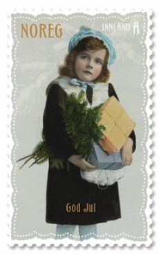 Norweigan Christmas Stamp with Photos from old Postcards - God Jul - Noreg… A Christmas Story, Christmas Art, Christmas Photos, Christmas Presents, Vintage Christmas, Vintage Postcards, Vintage Images, Norwegian Christmas, Norway Christmas