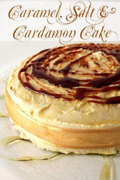 Caramel Salt & Cardamon Cake with Caramelised Butter Frosting