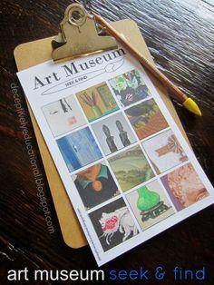 Relentlessly Fun, Deceptively Educational: Art Museum Seek & Find