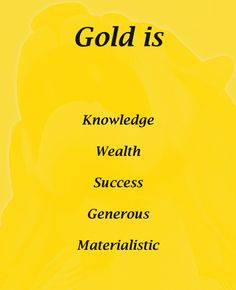 Meaning of color gold