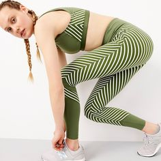 Women s New Balance ® For J.Crew High Waisted Performance Leggings In  Diagonal Stripe - ffeb760fc11