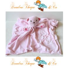 Doudou plat Chat PRIMARK EARLY DAYS rose I'm puuurrrfect ! 47 cm
