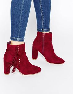 Truffle Collection | Truffle Collection Alice Tassel Heeled Ankle Boots at ASOS