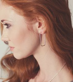 Rectangle Hoop Earrings | $28