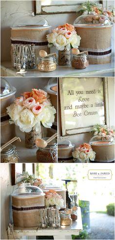 Ice Cream Bar - Vintage Wedding - Pageo Lavender Farm - Kori and Jared Photography Blog » - Northern California Wedding  Portrait Photographers