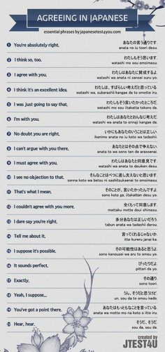 Infographic: how to agree with someone in Japanese