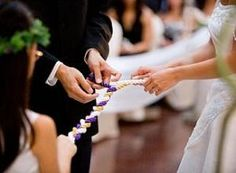 """""""A cord of 3 strands is quickly not broken.""""-Ecclesiastes 4:12    The Marriage Braid is to be used as an alternative to the unity candle. During your wedding ceremony, the frame with three lengths of cord is placed on display. One cord represents the bride, another cord represents the groom, and the last (center) cord represents God."""