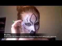 Face Paint Tutorial #1:    ZEBRA   (animal painting)