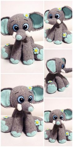 In this article we will share free amigurumi animal crochet patterns. You can enjoy these beautiful amigurumi Crochet Amigurumi Free Patterns, Crochet Toys, Free Crochet, Clay Pot Crafts, Pattern Pictures, Knitted Animals, Amigurumi Doll, Knitting, Appliques