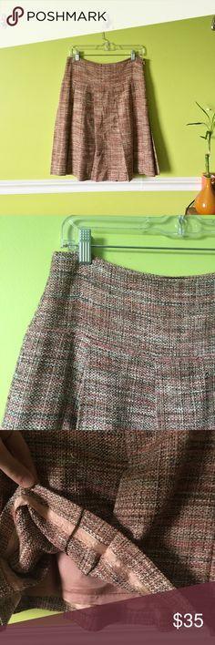 [bcbgmaxazria] skirt pink tweed high-waist pleated midi skirt with lining from BCBGMaxazria. worn + in excellent condition ✨   • make an offer ^_^ ! • BCBGMaxAzria Skirts Midi