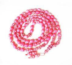 Fashion Cool Turquoise 108 Hot Pink Vein 10x12mm Skull Beads Necklace ZZ1025