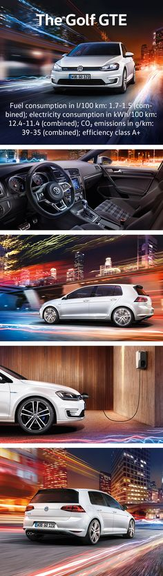 With its plug-in hybrid drive, the Volkswagen Golf GTE is highly efficient and economical. The combined power of both drives helps the Golf GTE to accelerate to 100 km/h in 7.6 seconds. Its electric-engine is supplemented by petrol direct injection that provides high dynamics with low consumption thanks to BlueMotion Technology.