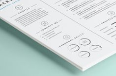 A new one page resume template with a very sharp and detailed style to help you create a distinctive and subtle...
