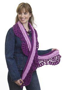 Layered #scarf free #crochet pattern