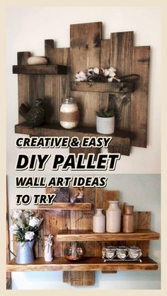 Woodworking Projects Diy, Pallet Projects, Diy Projects, Repurposed Furniture, Diy Furniture, Diy Pallet Wall, Pallet Wood, Diy Crafts Room Decor, Wall Ornaments