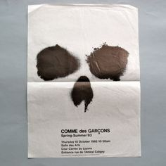 Original press invitation for Comme des Garçons s/s 1994 show, Paris.