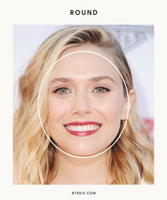 A round face is just a square-shaped face with softer angles—the sides of your face curve slightly outwards instead of being straight. Your chin is rounded and your cheekbones are the widest. Types Of Faces Shapes, Oval Face Shapes, Whats My Face Shape, Face Skin, Face And Body, Round Face Celebrities, Straight Hairstyles, Cool Hairstyles, Circle Face