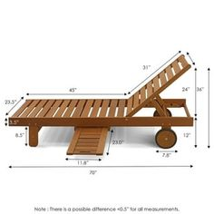 Furinno Tioman Outdoor Hardwood Sun Lounger with Tray Outdoor Furniture Plans, Pallet Furniture, Outdoor Armchair, Outdoor Chairs, Chaise Lounge Outdoor, Chaise Lounges, Outdoor Decor, Diy Holz, Diy Wood Projects