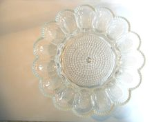 Oneida Victorian Classic Crystal Deviled Egg Tray Silver Plated Server With Box
