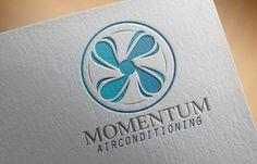 Momentum Airconditioning Logo Design