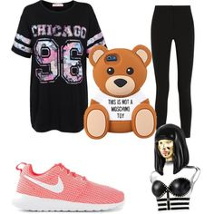 A fashion look from March 2015 featuring Topshop Unique pants and NIKE sneakers. Browse and shop related looks.